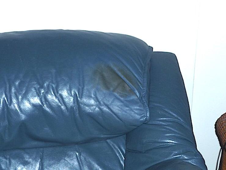 Headrest Oil Stain